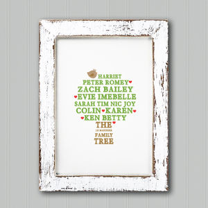 Personalised Family Tree Print - gifts for families