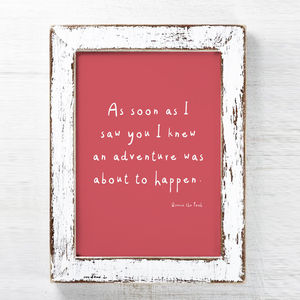 Winnie The Pooh Quote Print - children's room