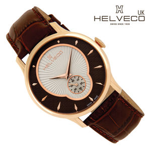 Rose Gold Montreux Watch Brown Two Toned Dial - men's jewellery