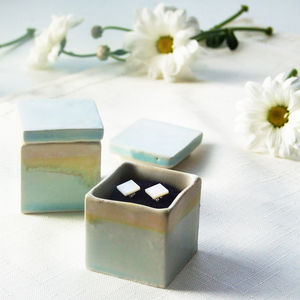 Handmade Earrings And Tropical Beach Jewellery Box - jewellery storage & trinket boxes