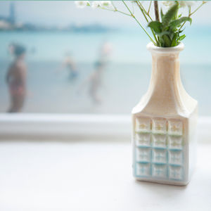 Square Tropical Mini Vase