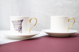 Skull In Crown Espresso Cup And Saucer