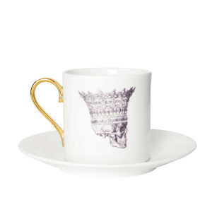 Skull In Crown Espresso Cup And Saucer - cups & saucers