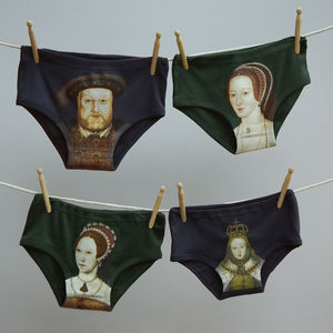 Valentine Tudor Portrait Pants For Men And Women - lingerie & nightwear