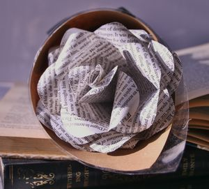 Wuthering Heights Book Page Rose