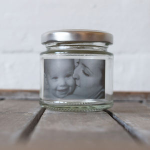 Personalised Mini Photo Glass Token Jar - table decorations