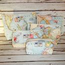 DELUXE Gift Set 6: World Map Travel Wash Bag - Box, Small, Medium, Large, Hanging