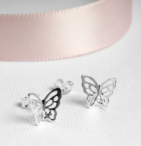 Butterfly Stud Earrings On A Customisable Gift Card