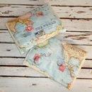 World Map Travel Wash Bag - Hanging Bag Folded