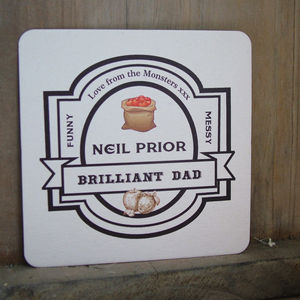 Real Beer/Cider Mat Father's Day Card - token gifts