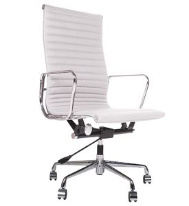 Eames Style Italian Leather Office Chair - office & study