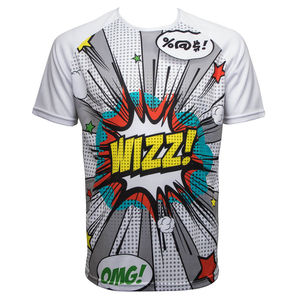 Mens Running Shirt Short Sleeve, Pop Art