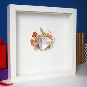 Flower Heart Burst Picture - contemporary art