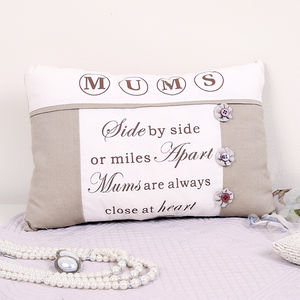 Close To The Heart Mum Cushion - gifts for the home