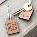 Personalised Binary Message Key Ring