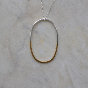Silver And Gold Pendant - necklaces & pendants