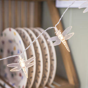 Warm White Dragonfly Fairy Lights - fairy lights & string lights