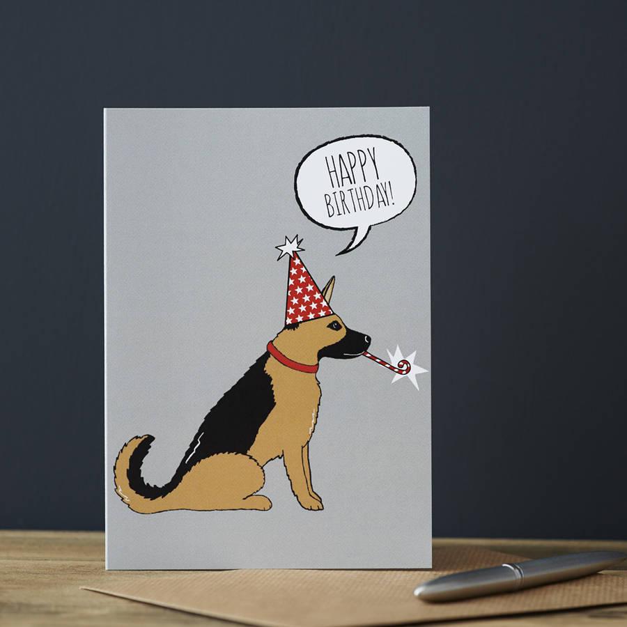 german shepherd birthday card by sweet william designs – Birthday Card in German