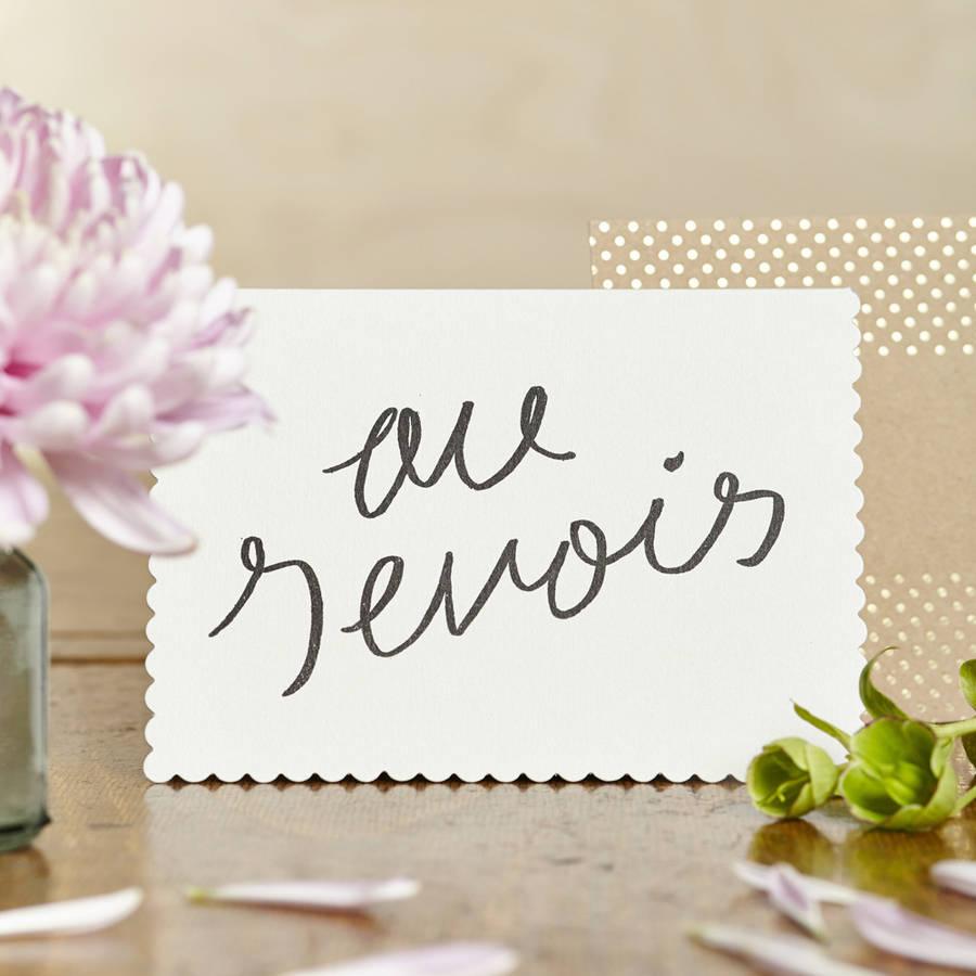 Luxe Au Revoir Card