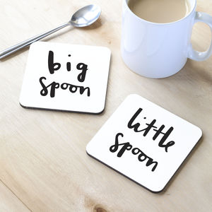Spooning Coasters - gifts for the home