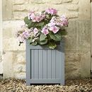 Elegant Hardwood Planter / Down Pipe Grey