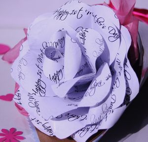'Happy 1st Mother's Day' Paper Rose