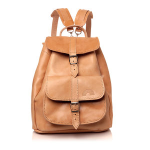 Iris Natural Leather Rucksack - men's accessories
