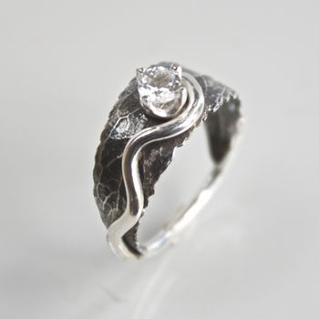 Handmade Silver Woodland Leaf Ring