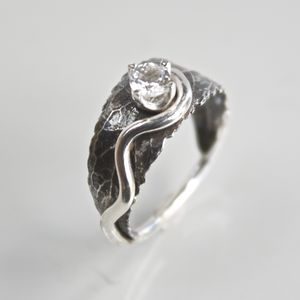 Handmade Silver Woodland Leaf Ring - rings