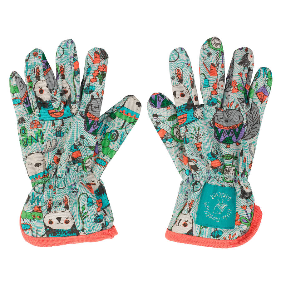 Children S Gardening Gloves By The Little Blue Owl