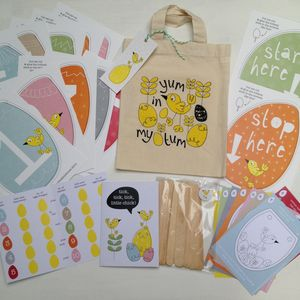 Children's Easter Hunt Kit With Personalised Tote Bag - games