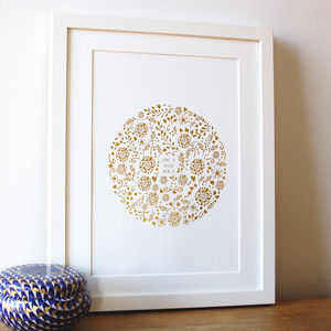 Gold Print 'Home Is Where Mum Is'