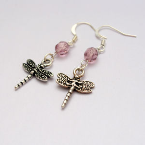 Dragonfly Crystal Drop Silver Earrings - what's new