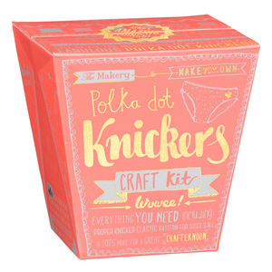 Make Your Own Polka Dot Knickers Set - creative kits & experiences