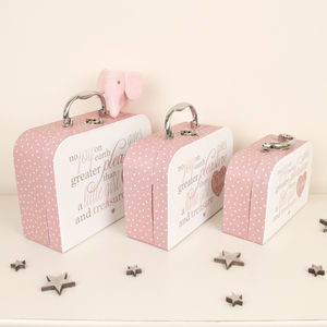 Set Of Three Girl's Keepsake Storage Boxes - baby's room