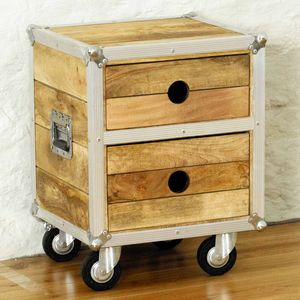 Roadie Two Drawer Side Table - furniture