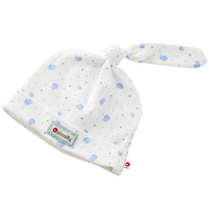 Organic Cotton Blue Elephant Baby Hat