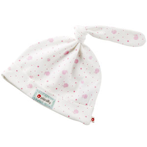 Organic Cotton Pink Elephant Baby Hat
