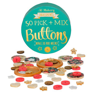 50 Pick And Mix Vintage Style Buttons