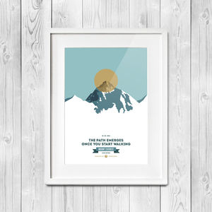 Mount Everest Infographic | Digital Print - contemporary art