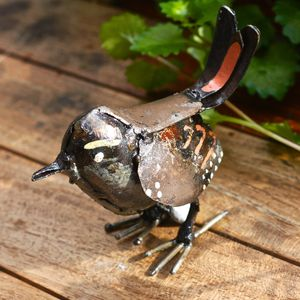 Handpainted Eurasian Wren Sculpture