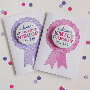 New Baby Girl Card With Magnet