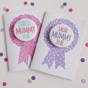 Mum To Be Card With Badge - gifts for mums-to-be