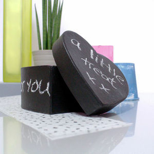 Personalised Blackboard Heart Trinket Box - cards & wrap