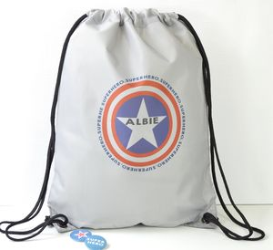 Boys Personalised Superhero Star Swim Bag