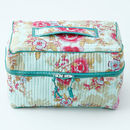 Vanity Bag In Blue Rose Print