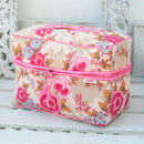 Vanity Bag In Pink Rose Print