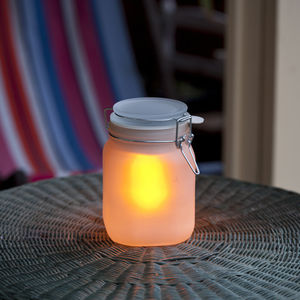 Solar Powered Mason Jar - camping essentials
