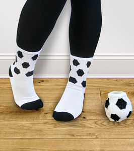 Roll Your Socks Into A Ball Football Socks - women's fashion