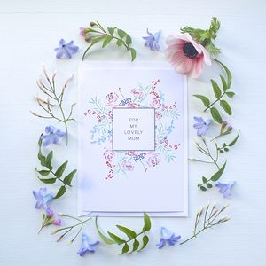 Mothers Day Rose Bouquet Card